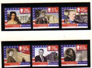Isle of Man Sc 1151-6 2006 Washington, DC stamp set mint NH