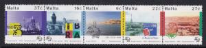 Malta   #970   MNH  1999  UPU  strip of 5