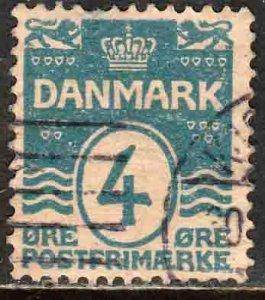 Denmark 60, 4o Wavy lines design. Used. (223)