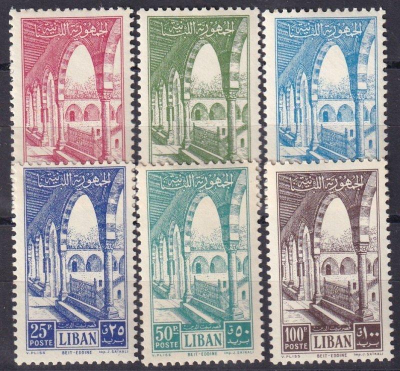 Lebanon #279-84 MNH CV $77.25 (Z3740)
