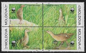 Moldova #370 MNH Block - WWF - Crex Crex