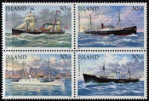 Iceland 1995  - Ships  , MNH block set # 806a
