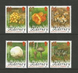 Alderney 2004 Fungi Set Of 6 Stamps MNH unmounted mint