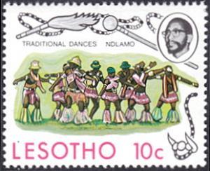 Lesotho # 192 mnh ~ 10¢ Ndlamo Men's Dance