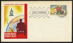 wc012 Monaco 1962 Multiple Sclerosis Research MS FDC first day cover