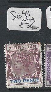 GIBRALTAR  (PP0207B)  QV  2D  SG 41  MOG