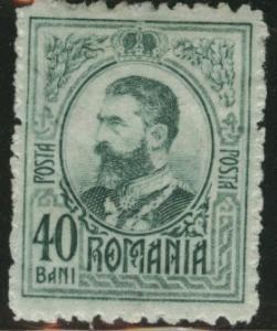 ROMANIA Scott 211 MH* 1908 King Carol I 40b