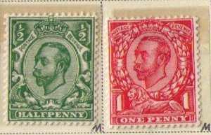 MNH Great Britain Sc 157-158 King George V (1912) VF Set of Two