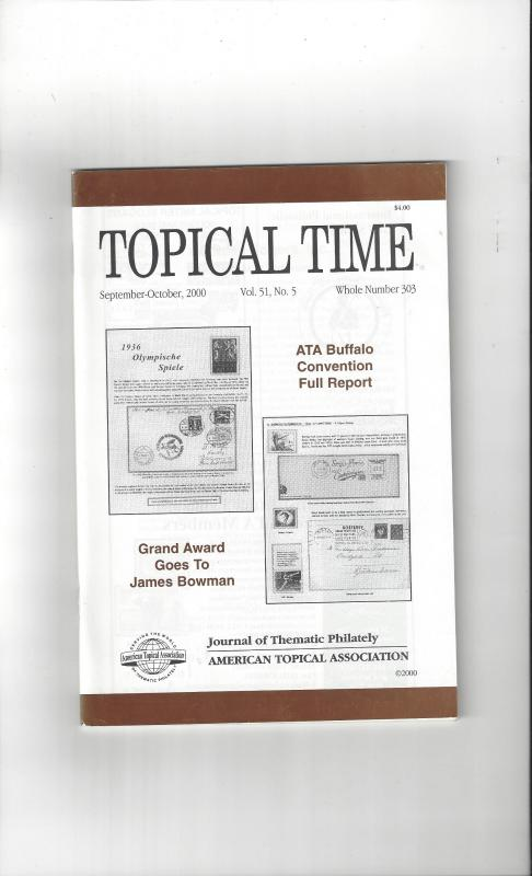 Topical Time Magazine SEP-OCT 2000  Number 303, ATA Journal