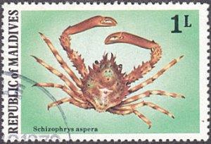 Maldive Islands # 758 used ~ 1 l Crab