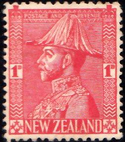 New Zealand Scott 184 Unused hinged.