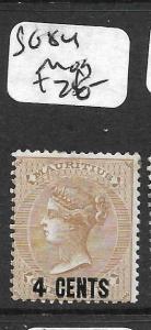 MAURITIUS (P2608B) QV 4C SURCH SG 84  MOG
