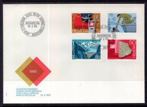 Switzerland 751-754 U/A FDC