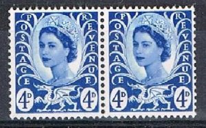 GB (Wales) 180135 - 1967-9 4d MNH pair