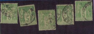 France SC 67 Type I (5 ea) Used F-VF