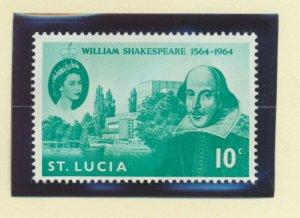 St. Lucia Scott #196, Shakespeare, British Commonwealth Common Design, 1964