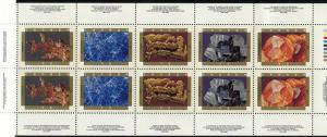 Canada - 1992 Canadian Minerals Booklet Pane mint #1440b VF-NH
