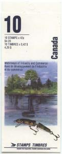 Canada - #BK145b 1992 42c Heritage Rivers Complete Booklet