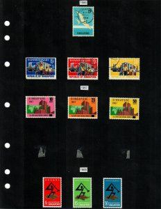Singapore 52 Stamps/1 Sheet MH/MNH/Used (SCV $67.40) Starting at 5%