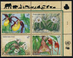 United Nations - Vienna 199a TR Block MNH Flowers, Orchids