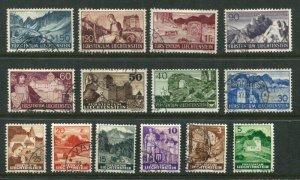 Liechtenstein #136-50 Used