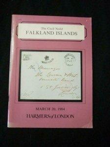 HARMER'S AUCTION CATALOGUE 1984 FALKLAND ISLANDS THE 'CECIL NEILD'