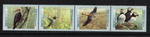 CANADA NO 1594a  (1591-1594),BIRDS OF CANADA 1: PILEATED WOODPECKER  ETC,MINT NH