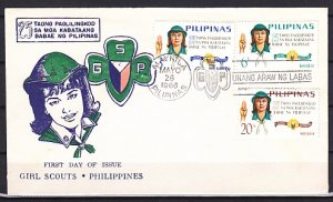 Philippines, 947-949. Girl Scouts, 25th Anniversary. First day cover. ^