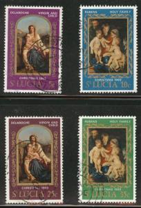 Saint Lucia Scott 257-60 Used CTO 1969 Madonna set