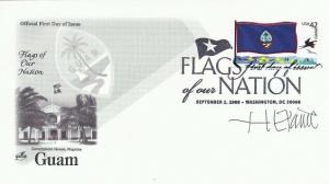 4286 44c GUAM FLAG - Signed by Stamp Designer H. E. Paine
