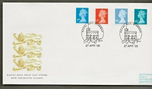 27/4/2000 2nd +1st + 40p + 65p DEFINITIVES EX £1., £2.,1.60+2.60 BOOKLETS FDC