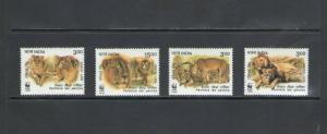 INDIA: Sc. 1765-68  /**ASIATIC LION-WWF ISSUE **/ Set of 4 / MNH