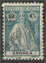 ANGOLA, 1925, used 12c Ceres Scott 137