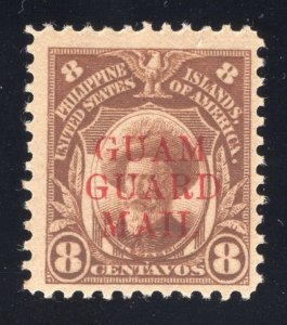 Guam# M10 - 8 Cents, Orange Brown - Guam Guard Mail - Mint - O.G. - N.H.