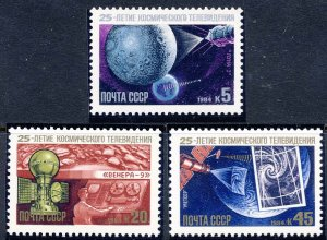 Russia MNH 5296-8 Satellite TV From Space 1984