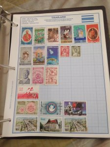 Thailand collection group lot stamps years vary