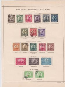 yugoslavia 1921 stamps page ref 17528
