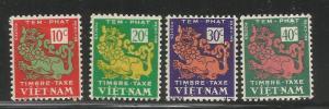 VIETNAM  J1-J4   MINT HINGED,  TEMPLE LION
