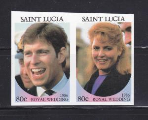 St Lucia 839 Imperf MNH Prince Andrew Wedding (B)