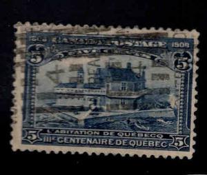 Canada Scott 99 Used 1908 Champlain's Home CV $70