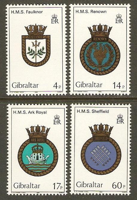 Gibraltar #449-52 NH Navy Crests