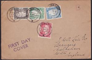 ADEN 1937 4 Dhows on cover to UK - First Day cancels........................6632