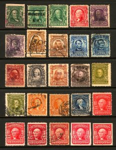 #300-#320 1902-1906 Assorted Regular Issue, Imperfs, Mint & Used