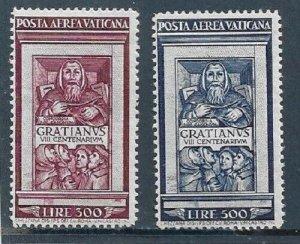 1951   VATICAN CITY  -  SG. 173 / 174  -  DECREE OF GRATIAN  ANN.-  MOUNTED MINT