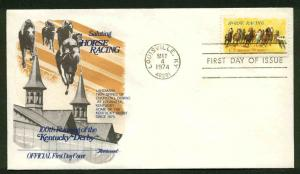 US FDC #1528 Fleetwood Cachet Louisville, KY Horse Racing