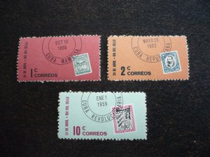Stamps - Cuba - Scott# 670-672 - Mint Hinged Set of 3 Stamps