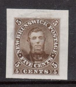 New Brunswick #5TCi XF Proof On India **With Certificate**