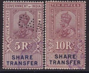 INDIA GV Share transfer stamps - revenues...................................8604