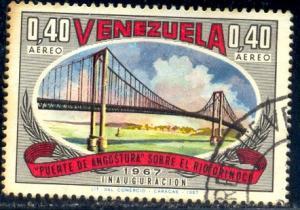 Angostura Bridge, Orinoco River, Venezuela stamp SC#950 Used