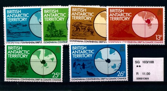 BRITISH ANTARCTIC TERRITORY - Continental Drift and Climate Change - MNH